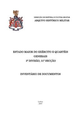 3-31 Estado Maior do Exército e Quartéis Generais