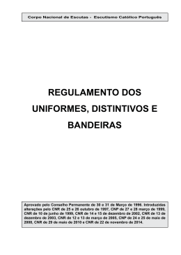 Regulamento de Uniformes - Junta Regional de Viana do Castelo