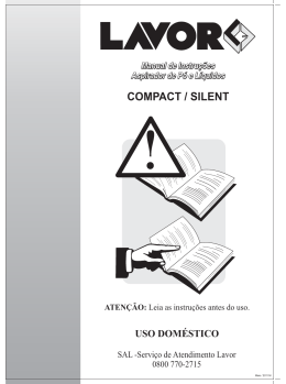 Lavor Manual Aspirador domestico Compact e Silent