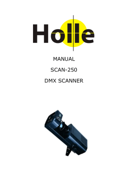 MANUAL SCAN-250 DMX SCANNER