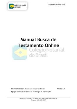 Manual Busca de Testamento Online