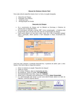 Manual do Sistema Cálculo Fácil Para cada cálculo específico basta