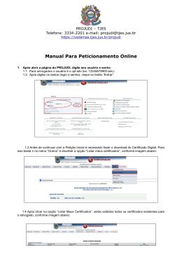 Manual de Petição de Juntada