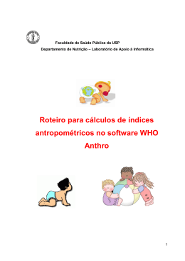 Manual Anthro: - Faculdade de Saúde Pública