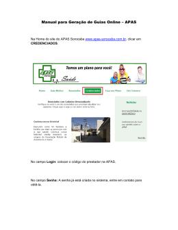 Tutorial Guias online - APAS
