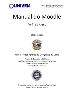 Manual do Moodle - ead
