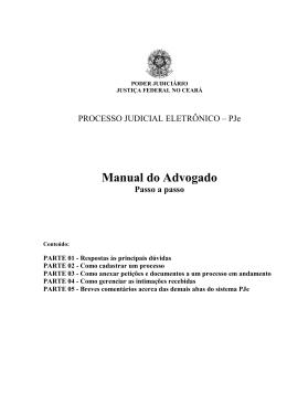 Manual do Advogado - Justiça Federal na Paraíba