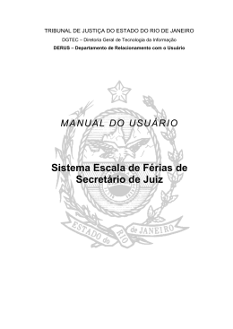 Manual do Sistema de Escala de Férias de Secretário de Juiz