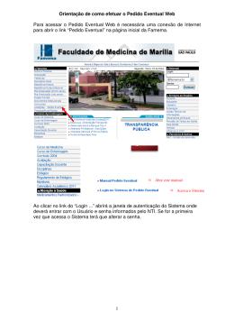 Manual Pedido Eventual Web - Voltar ŕ página inicial da Famema