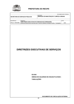 DIRETRIZES EXECUTIVAS DE SERVIÇOS PARA