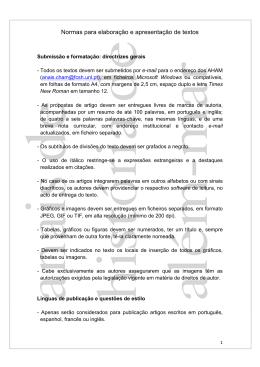 Normas para elaboração e apresentação de textos