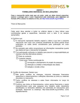 Formulário de declaração individual