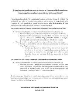 Pós-Graduação em Fisiopatologia Médica - Fcm