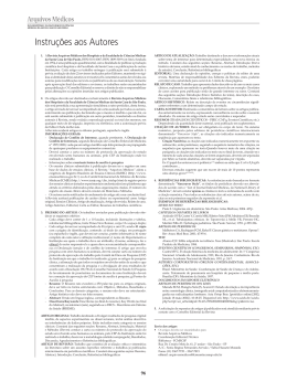 Instruções aos Autores - Faculdade de Ciências Médicas da Santa