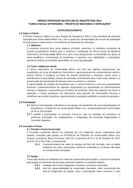 PRÊMIO PROFESSOR NILTON LINS DE ARQUITETURA 2013