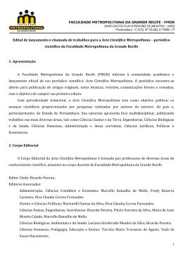 ACM Edital - Faculdade Metropolitana