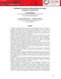 Modelagem Matemática utilizando Banco de Dados: problemas de