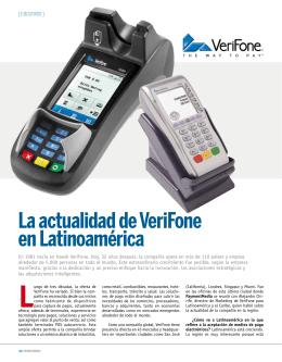 la actualidad de Verifone en latinoamérica Luego