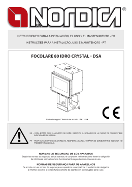 FOCOLARE 80 IDRO CRYSTAL - DSA