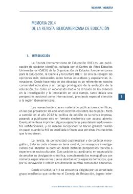 Memoria - Revista Iberoamericana de Educación