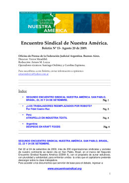 Encuentro Sindical de Nuestra América.