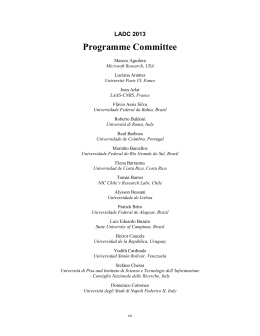 Programme Committee