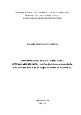 Monografia de Dayana Bezerra dos Santos