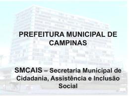 Secretaria Municipal de Cidadania, Assistência e Inclusão Social