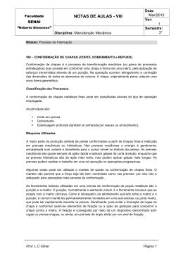 NOTAS DE AULAS - VIII