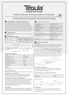 Folheto Técnico Thermocomfort e Ondulada