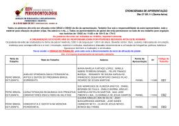 Programa de apresentação 27/05