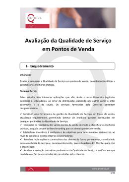Avaliação da Qualidade de Serviço em Pontos de Venda