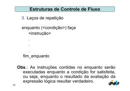 Estruturas de Controle de Fluxo