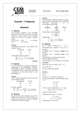 TESTE #1 – 1