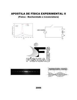 Apostila de Física Experimental II