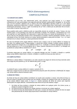 CAMPOS ELÉTRICOS - prof. Sergio Turano de Souza
