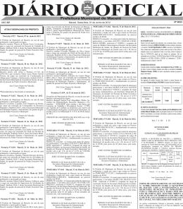diário oficial - Prefeitura de Maceió