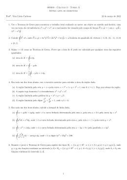 089303 - Cálculo 3 - Turma A Sétima lista de exercıcios Profa. Vera