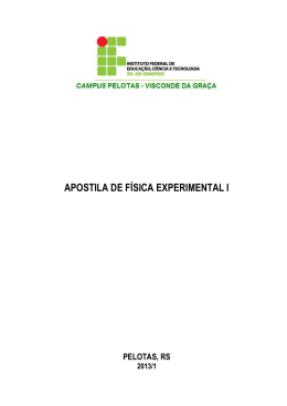 Apostila de Física Experimental I