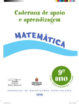 MATEMATICA_9ANO_Aluno - Secretaria Municipal de Educação