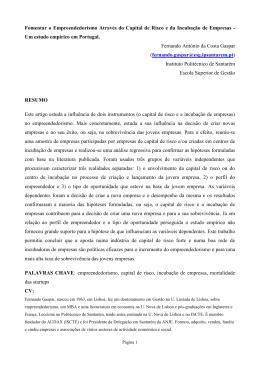 Um estudo empírico em Portugal. Fernand