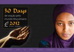 30 dias 2012 - 30 Dias de Oração pelo Mundo Muçulmano