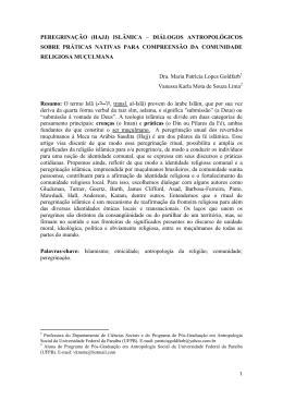 peregrinação (hajj) islâmica – diálogos antropológicos sobre