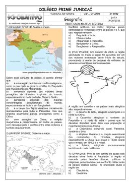 COLÉGIO PRIME JUNDIAÍ Geografia