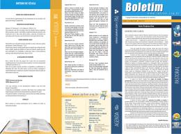 Boletim SemanalNº 41 - ano 2015