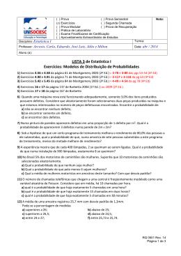 LISTA 3 de Estatística I Exercícios