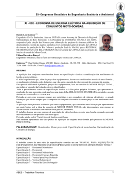 21º Congresso Brasileiro de Engenharia Sanitária e