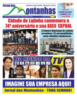 24 de junho de 2012 - JM1 Jornal das Montanhas Manhuaçu MG