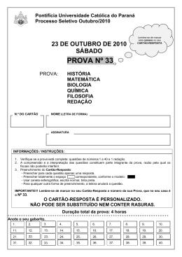 Prova 33 - Gazeta do Povo