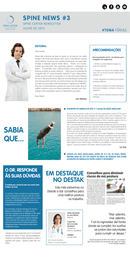 SAbIA quE... - Spine Center